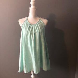 Mint Cotton Halter Dress